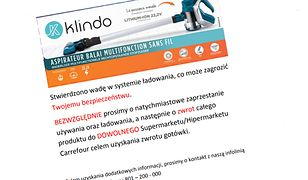 Carrefour usilnie nalega, by klienci zwracali kupione odkurzacze marki Klindo