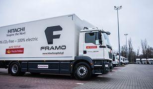 Framo e-truck ma zasięg przekraczający 200 kilometrów na jednym ładowaniu.