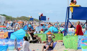 Handlarz na plaży w upalny dzień może zarobić ponad 200 zł dziennie.