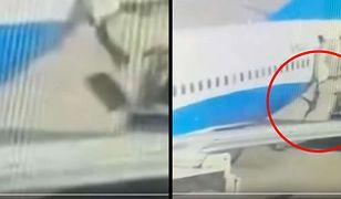 Spadając, stewardesa zdołała chwycić się na chwilę samolotu, jednak nie starczyło jej sił na długo