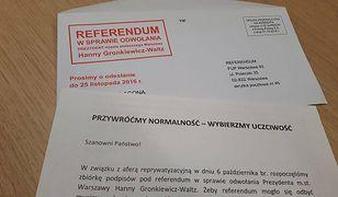 Jeden dzień, 15 tysięcy listów z podpisami warszawiaków. Guział odwoła Hannę Gronkiewicz-Waltz?