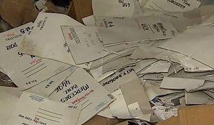Dokumenty znalezione przez reportera Polsat News