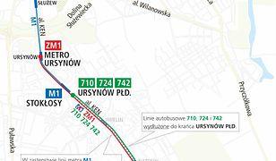 Warszawa. W weekend metro będzie kursować na skróconej trasie z w powodu remontu