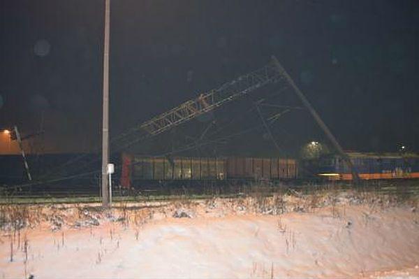 Wypadek kolejowy pociągu towarowego w Poraju