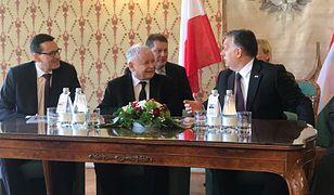 Premier Wiktor Obran przyjął w Budapeszcie Jarosława Kaczyńskiego i Mateusza Morawieckiego