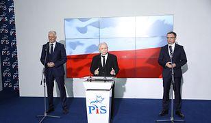 Jarosław Kaczyński, Jarosław Gowin oraz Zbigniew Ziobro