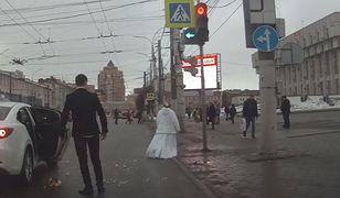 Nietypowa sprzeczka na rosyjskiej ulicy