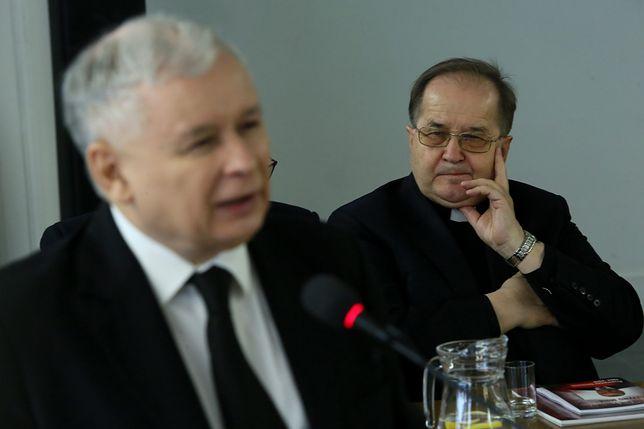 Prezes PiS Jarosław Kaczyński i dyrektor Radia Maryja o. Tadeusz Rydzyk.