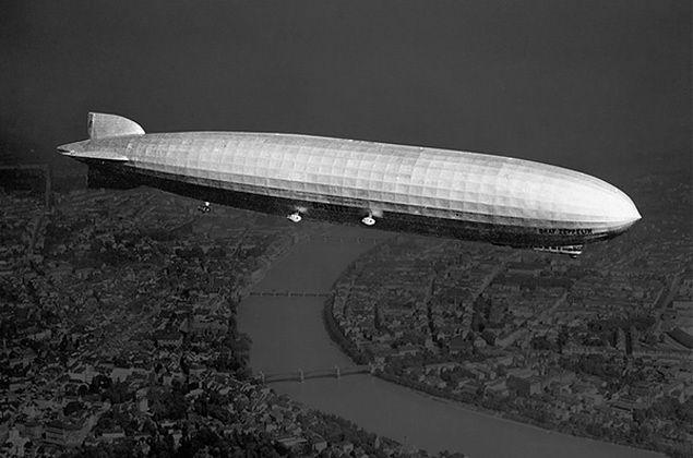 Zeppeliny - bombowce strategiczne Niemców w czasie I wojny światowej
