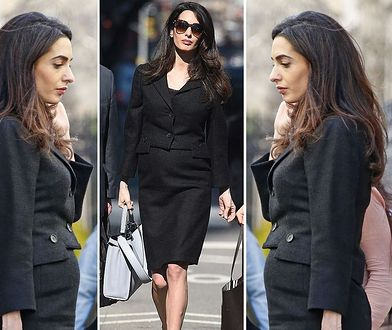 LOOK OF THE DAY: Amal Clooney w czarnej garsonce