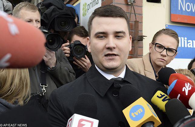 Bartłomiej Misiewicz dziękował pracownikom Służby Więziennej za zapewnienie mu bezpieczeństwa
