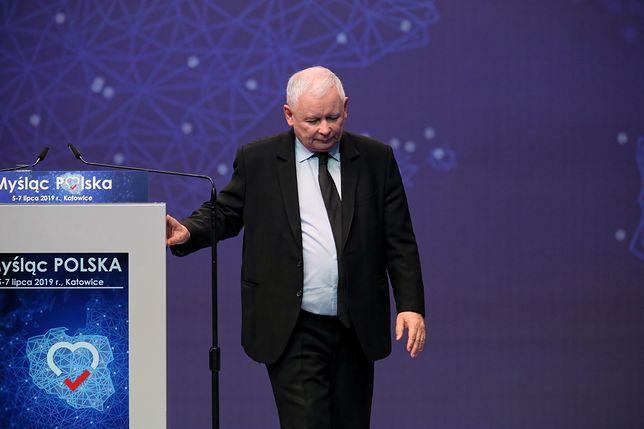 Jarosław Kaczyński na konwencji PiS w Katowicach