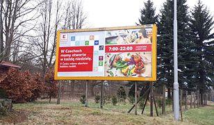 Kaufland w Czechach wykorzystuje fakt, że Polacy w niedziele nie zrobią zakupów u siebie.