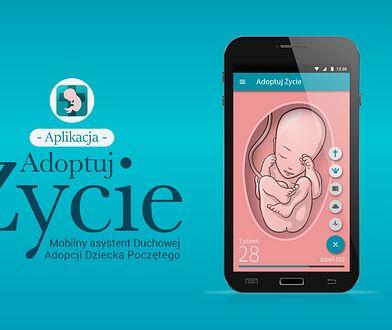 """Adoptuj Życie, czyli aplikacja mobilna, dzięki której można """"adoptować"""" dziecko, za które modli się przez 9 miesięcy, żeby odwieść matkę od aborcji."""