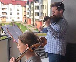 Niezwykłe koncerty na balkonie. Muzycy Śląskiej Orkiestry Kameralnej zachwycają sąsiadów