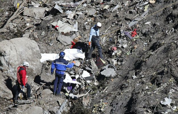 Szczątki rozbitego Airbusa A320