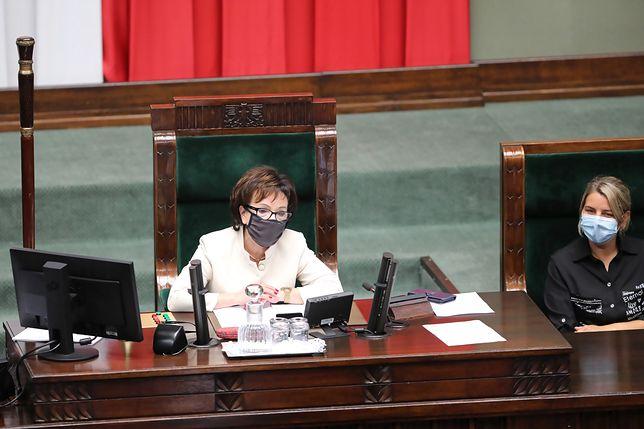Opozycja rezygnuje z próby odwołania marszałek Sejmu Elżbiety Witek