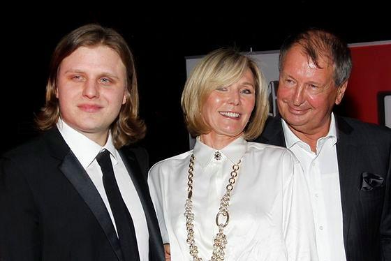Anna Woźniak-Starak z synem i mężem