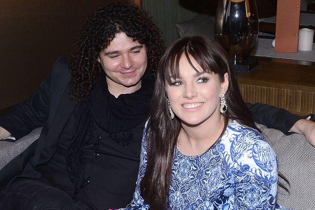 Ewa Farna z Martinem Chobotem na jednej z imprez firmowych