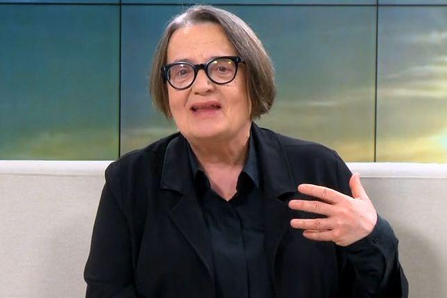 """Agnieszka Holland u Moniki Olejnik: """"Jarosław Kaczyński jest dyktatorem, a nie reżyserem"""""""