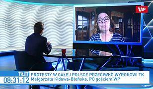 Strajk kobiet. Małgorzata Kidawa-Błońska uderza w Kaczyńskiego: on wyprowadził ludzi na ulice, on ponosi odpowiedzialność
