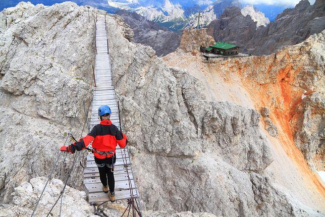Ponte Cristallo, Dolomity, Włochy