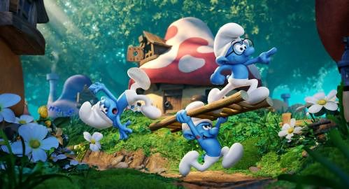 """""""Smurfs: The Lost Village"""" fot. Sony Pictures"""