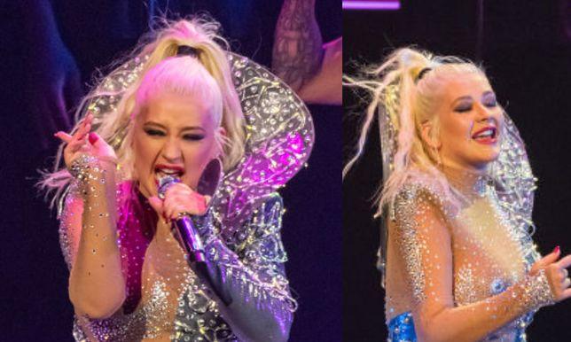 Christina Aguilera podczas występu w Dublinie
