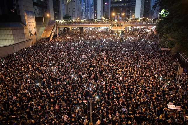 Protest w Hong Kongu zgromadził niespotykane tłumy
