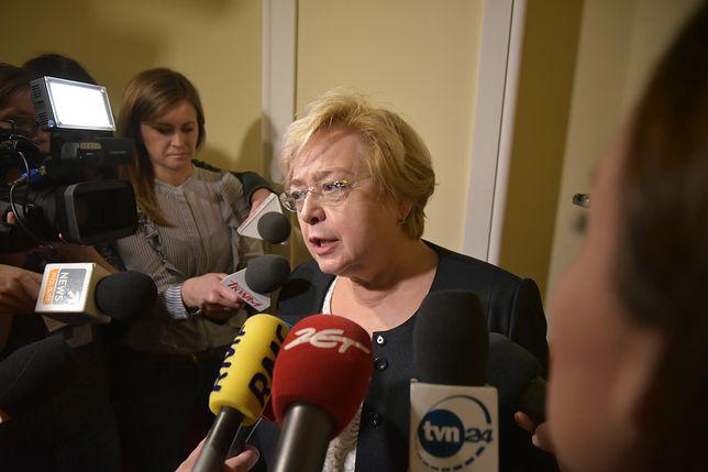 Małgorzata Gersdorf spotkała się z dziennikarzami przed wejściem do sądu