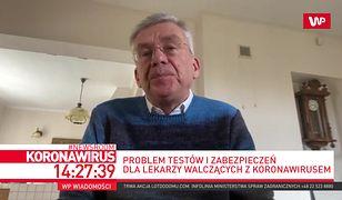 """Stanisław Karczewski pracował przy pacjentach, ale testu na razie nie robi. """"To byłby wielki błąd"""""""