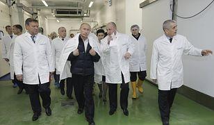 Jewgienij Prigożyn oprowadza Putina po swojej fabryce