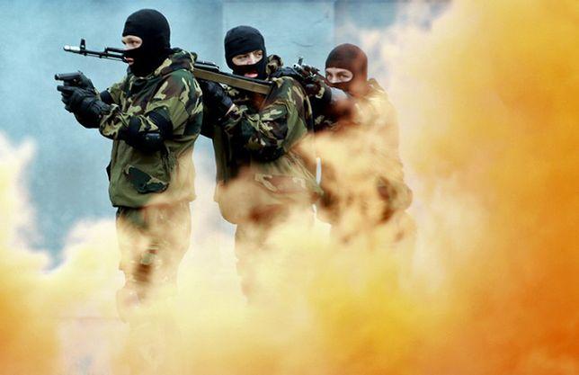 Pokaz białoruskiej jednostki specjalnej; zdjęcie archiwalne