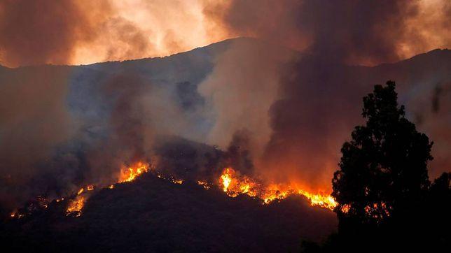 Pożar widoczny jest w całym regionie Costa del Sol