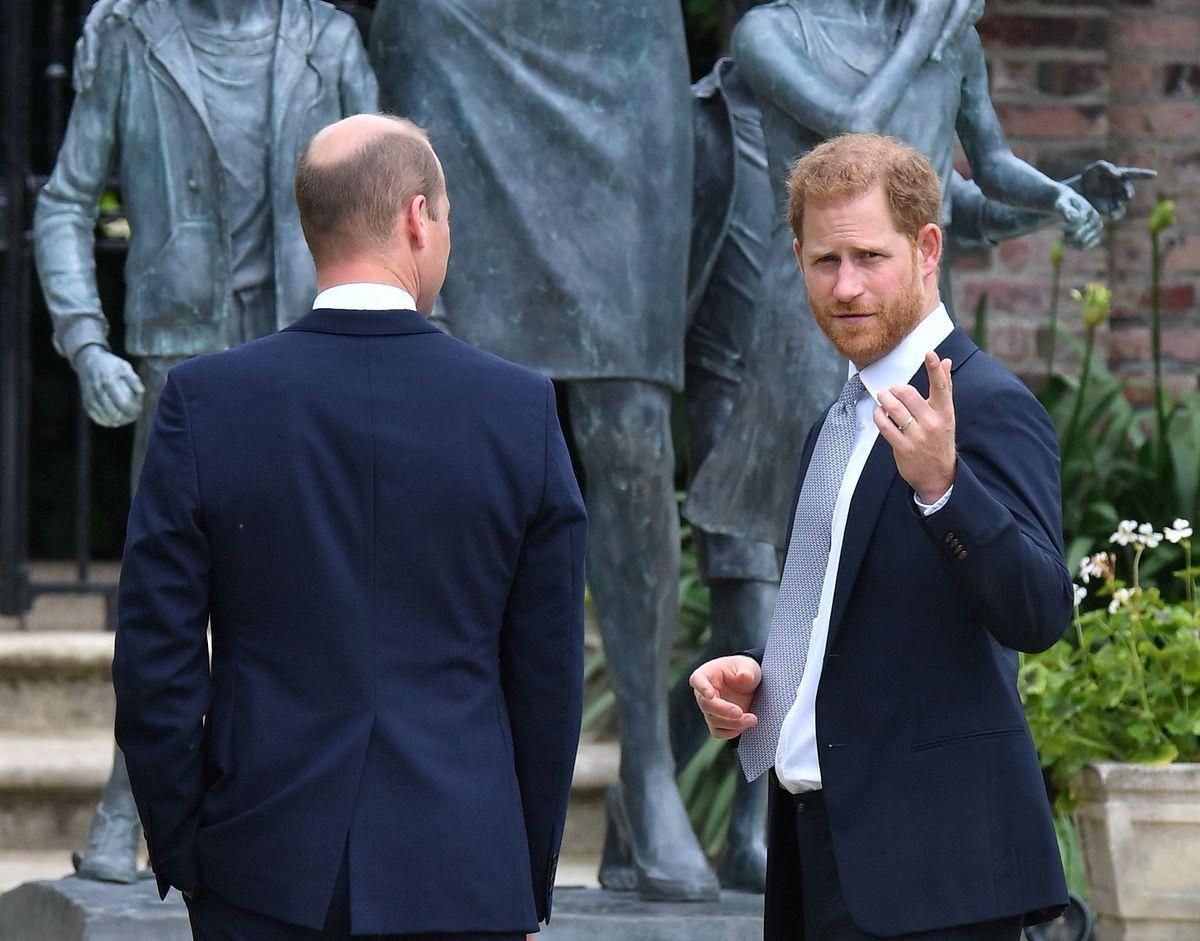 Harry i William odsłonili pomnik matki  ogrodach Pałacu Kensington