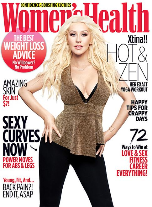 "Christina Aguilera na okładce ""Women's Health"""