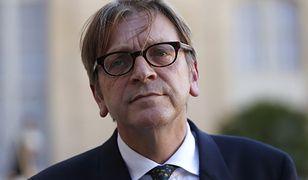 Guy Verhofstadt, były premier Belgii i przewodniczący frakcji Porozumienia Liberałów i Demokratów na rzecz Europy w Parlamencie Europejskim