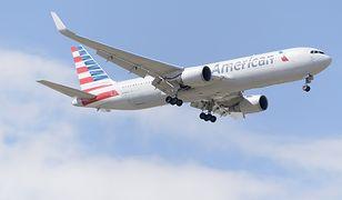 Pasażerka skorzystała z linii American Airlines