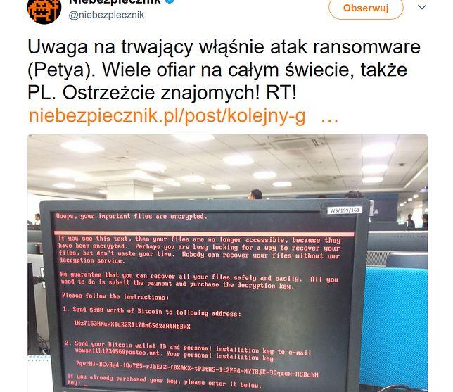 Nowy, lepszy wirus. Atak ransomware uderzył w kilkadziesiąt polskich firm