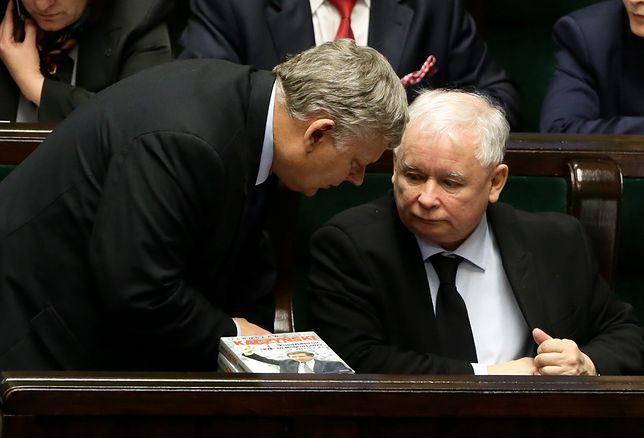 """Marek Suski i Jarosław Kaczyński, autorzy """"lex TVN"""""""