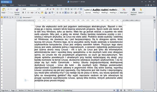 WPS Writer - prawie jak Word
