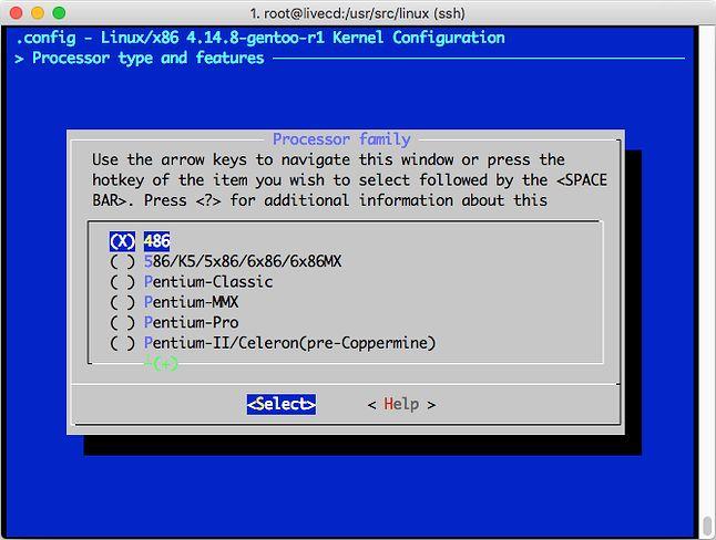 Gentoo wciąż pozwala zbudować Linuksa na i486