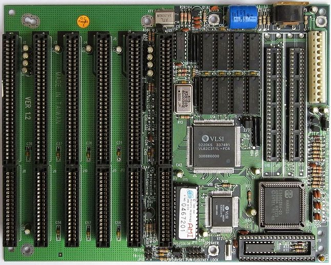 Płyta główna Baby AT z procesorem 80286 20Mhz