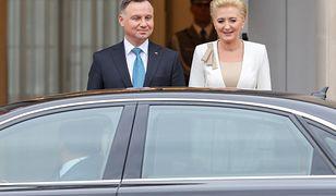 Prezydent Andrzej Duda z żoną.