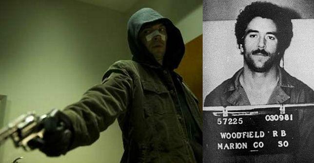 """Tygh Runyan jako Randy Woodfield (po prawej) w filmie """"Zabójca z autostrady I-5"""""""