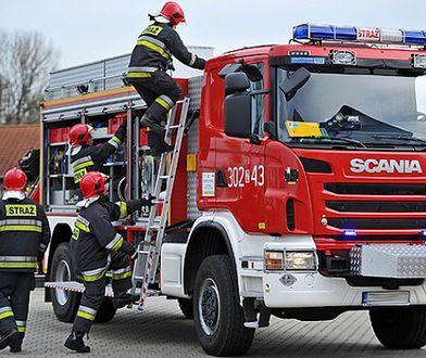 Wyciek gazu w Pleszewie zabezpieczali strażacy z ośmiu jednostek