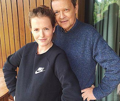 Olga Frycz ze swoim tatą.