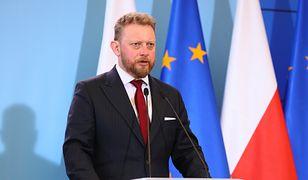 Łukasz Szumowski podczas konferencji