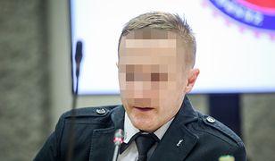 Były oficer CBA Wojciech J. podczas sejmowego przesłuchania przed komisją ds. zagrożeń