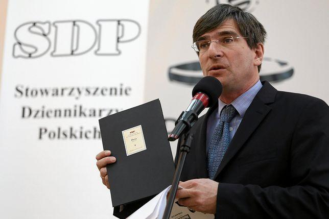 Krzysztof Skowroński podczas 24. gali Nagród SDP